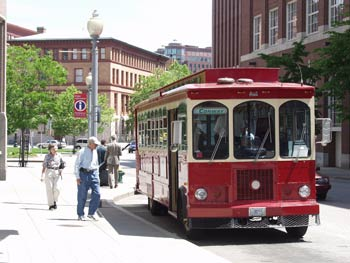 Ride the classic trolley, for ca. $1.00 per person to see the entire city of Providence
