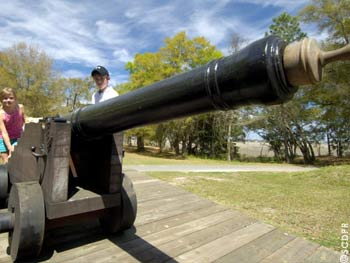 Replica canon at Charles Towne Landing State Historic Site