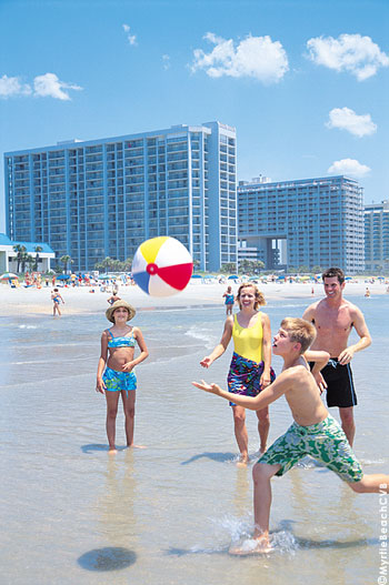 Having a ball in the Myrtle Beach area, South Carolina's Grand Strand.