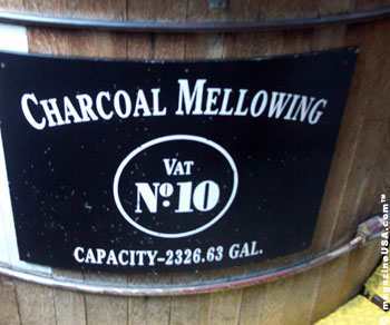 The charcoal-mellowing process