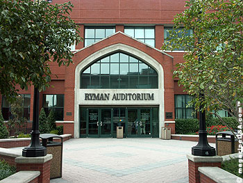 The Ryman Auditorium is a National Historic Landmark