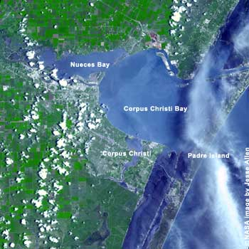 Corpus Christi seen from space
