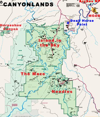 Travel Explore USA Canyonlands National Park The Park In A - Utah map usa