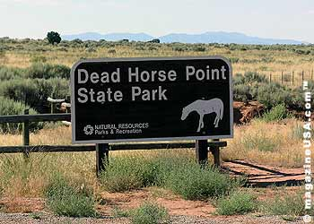 Park Sign: Dead Horse Point State Park