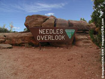 Needles Overlook - Take SR-191 and then on the CR-131 ca. 20 mi / 35 km