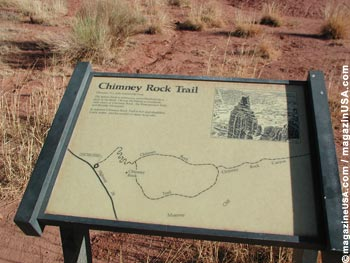 Chimney Rock is a landmark of the Capitol Reef National Park. Take a hike to explore it further