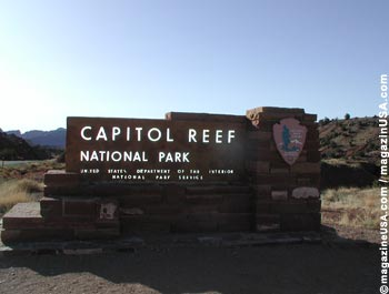 Capitol Reef National Park's Welcome Sign