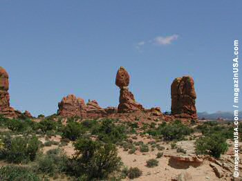 Balanced Rock - as seen from La Sal Mountains Viewpoint