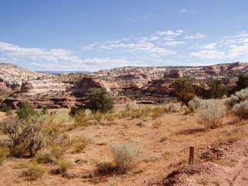 Desert-style camping, e.g. on Devils Garden Campground in Utah's Arches Park