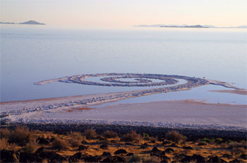 Spiral Jetty, northern end of Great Salt Lake