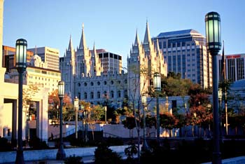Historic Temple Square in the heart of downtown Salt Lake