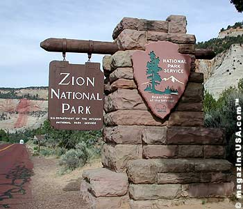 Zion National Park Eingang