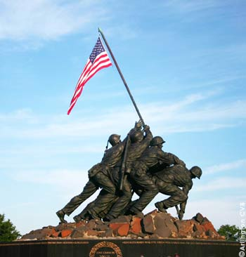 The Marine Corps War Memorial, Iwo Jima