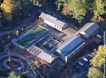 Aerial view of Thomas Jefferson's Monticell