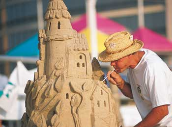 Neptune Festival sandcastle. A boisterous and beloved sendoff  to summer, the Neptune Festival is celebrated each September and includes the North American Sandsculpting Competition.