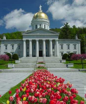 State House in Spring, State Street, Montpelier