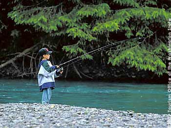 Fishing on the Hoh River South of Forks