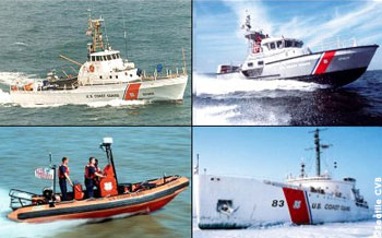 The U.S. Coast Guard fleet is comprised of cutters and boats -- cutters are vessels 65' and greater in length and have living space for the crew. Boats can be as small as 12' in length.