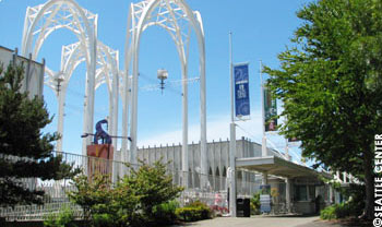 Pacific Science Center features five buildings of interactive science exhibits, a tropical Butterfly House, two IMAX theatres a planetarium and laser light shows.