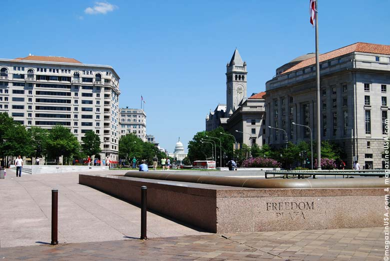 Freedom Plaza on Pennsylvania Avenue