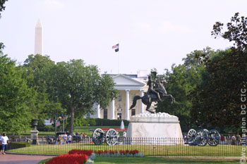 Lafayette Square is adjacent to the White House