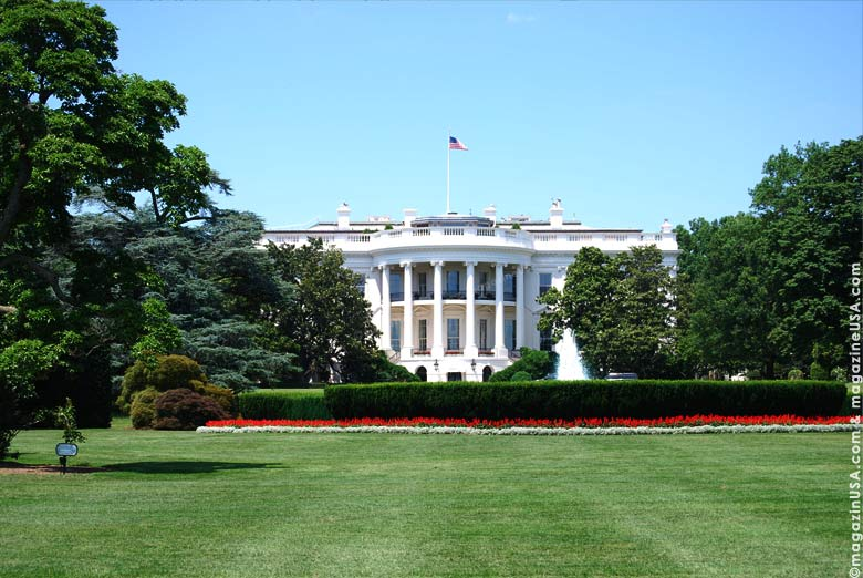 The White House, home of every US President except George Washington.