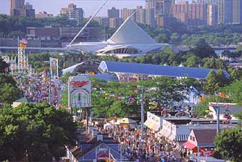 With music, food and family fun from around the world, Summerfest offers something for everyone. The festival takes place along Milwaukee's beautiful lakefront at the Henry Maier Festival Park.
