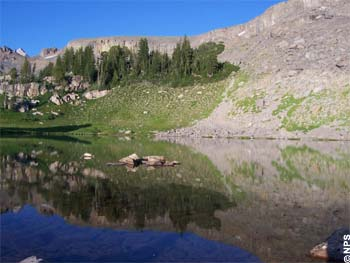 Sunset Lake On Teton Crest Trail in Grand Teton NP, Wyoming