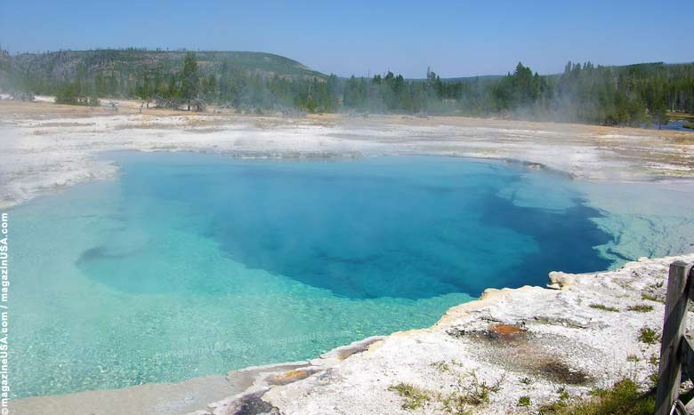 Sapphire Pool in Yellowstone National Park