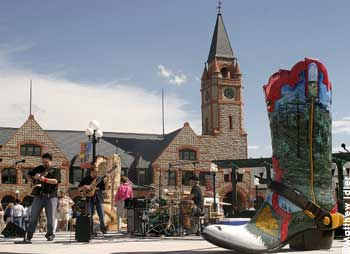 Take in a free concert every Friday afternoon during the summer at the Depot.