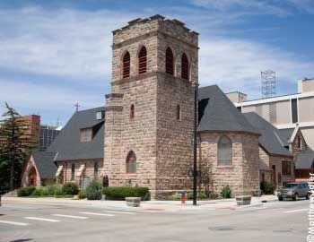 The Church was named St. Mark's in honor of St. Mark's in Philadelphia that donated $1,000 for the establishment of the new church. It was the first church built in Cheyenne